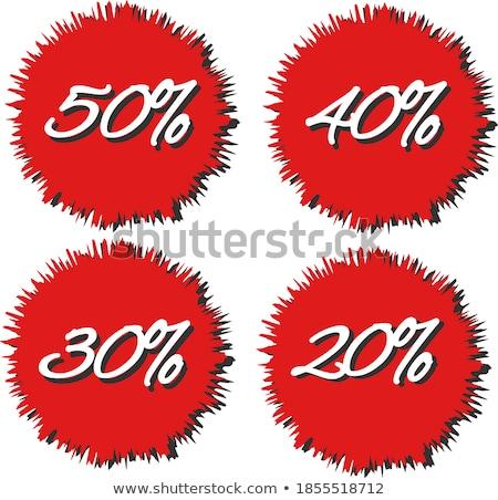 20 vásár piros szalag háttér doboz Stock fotó © adamson