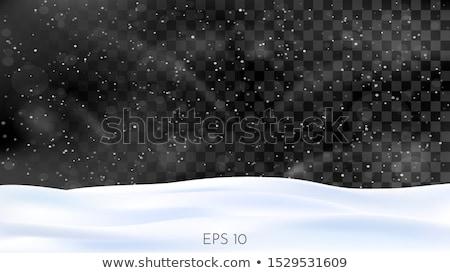 Queda de neve escuro transparente preto inverno projeto Foto stock © romvo