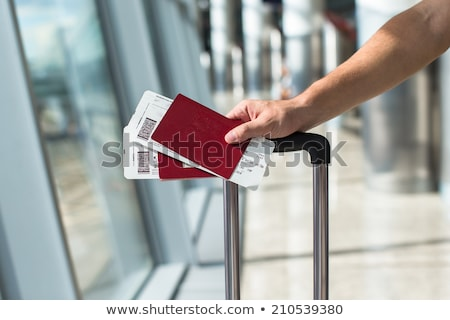 Stock photo: Passport and boarding pass