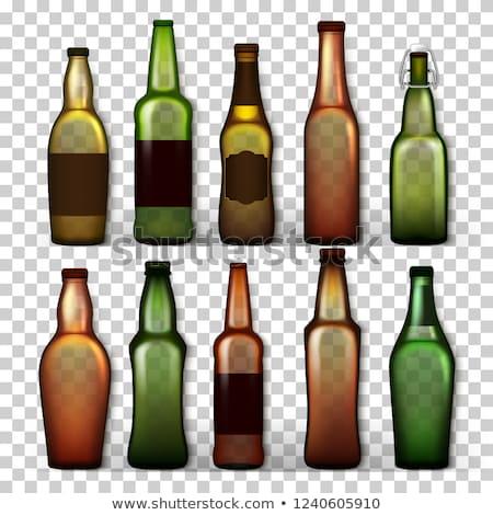 Сток-фото: прозрачный · пива · бутылок · набор · вектора · различный
