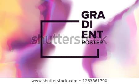 Gradiente fluido vector resumen ola simple Foto stock © pikepicture