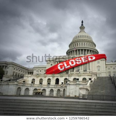 cerrado · América · Estados · Unidos · gobierno · metáfora · inmigración - foto stock © lightsource