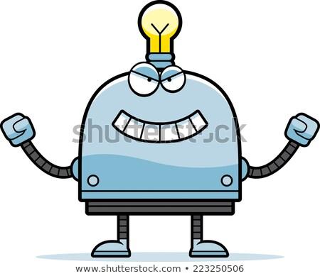 Zło mały robot cartoon ilustracja patrząc Zdjęcia stock © cthoman