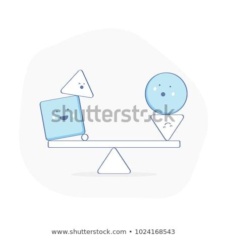 balance icon vector statics symbol sign Stock photo © blaskorizov