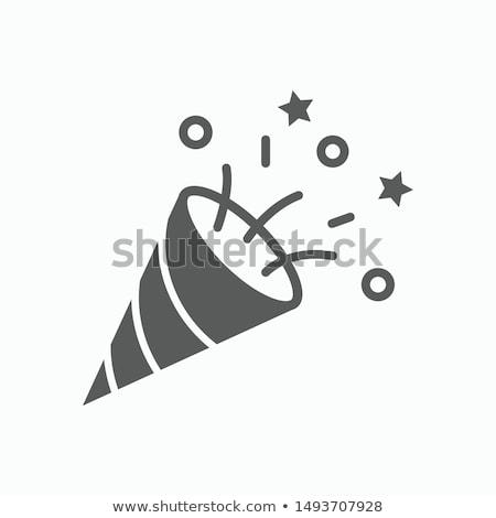 Kanon icon vector symbool ontwerp logo Stockfoto © blaskorizov