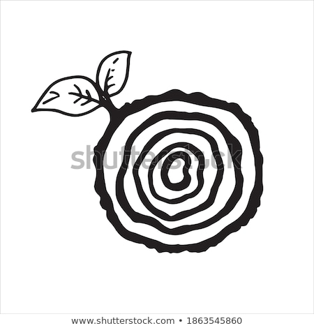 cutted tree wood clip art vector icon sign Stock photo © blaskorizov