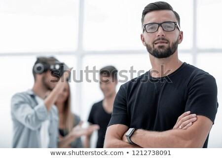 üzletemberek készít csapat képzés testmozgás üzletember Stock fotó © boggy