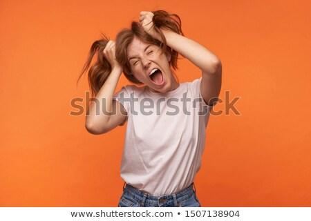 фото красивая женщина 20-х годов вьющиеся волосы Сток-фото © deandrobot