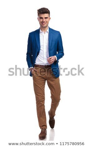 Giovani Smart casuale uomo blu suit Foto d'archivio © feedough