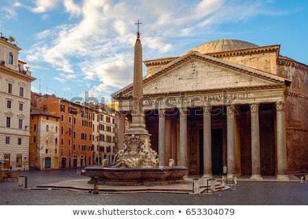 Romeinse · ochtend · Italië · hemel · wolken · gebouw - stockfoto © hsfelix