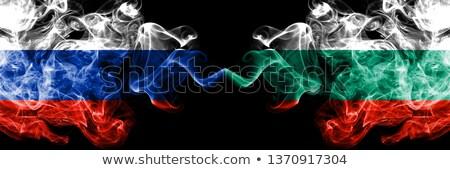 Dwa flagi Rosja Bułgaria odizolowany Zdjęcia stock © MikhailMishchenko