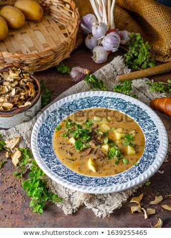 champignon · aardappel · stoven · heerlijk · champignon · champignons - stockfoto © peteer