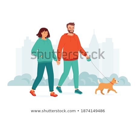 Weekend Healthy Spending Time in City Park Vector Stock photo © robuart