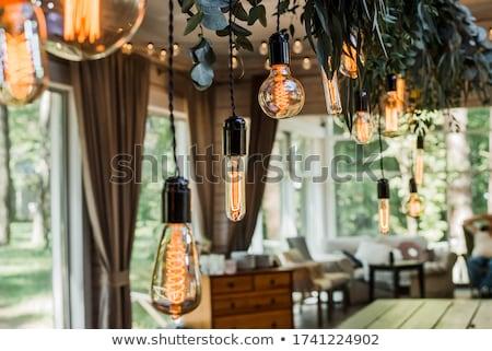 庭園 ランプ 美しい 春 青空 草 ストックフォト © fyletto