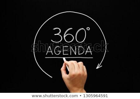 Agenda 360 Degrees Arrow Concept Stock photo © ivelin