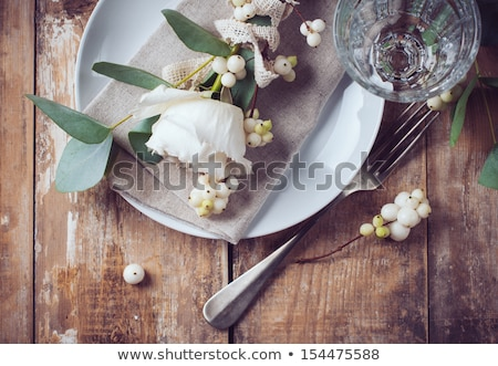 Spring festive table setting with vintage cutlery Stock photo © Lana_M