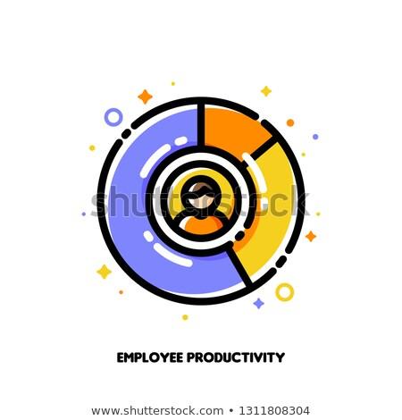 Icon diagram personeel werknemer produktiviteit lid Stockfoto © ussr
