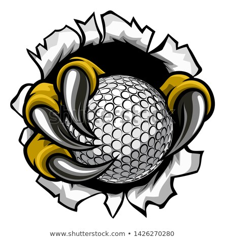 Eagle Bird Monster Claw Talons Holding Golf Ball Stock photo © Krisdog