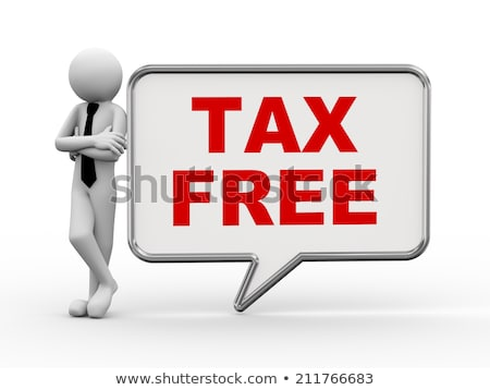 3d people word text tax free stock photo © ribah