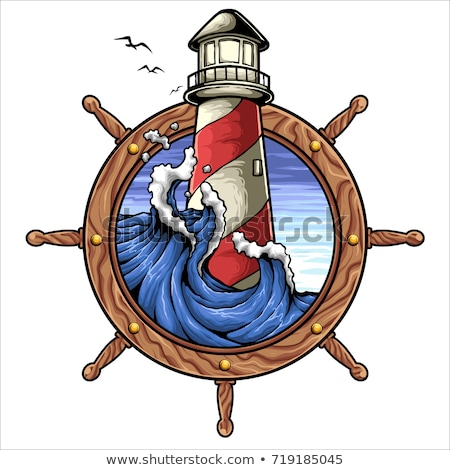 latarni · pirackich · wody · świetle · morza · sztuki - zdjęcia stock © netkov1