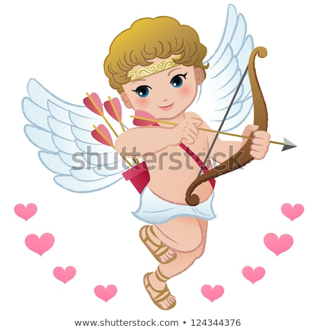 valentin · nap · szív · szárny · izolált · fehér · háttér - stock fotó © robuart