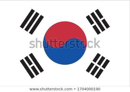 South Korean flag, vector illustration Stock photo © butenkow