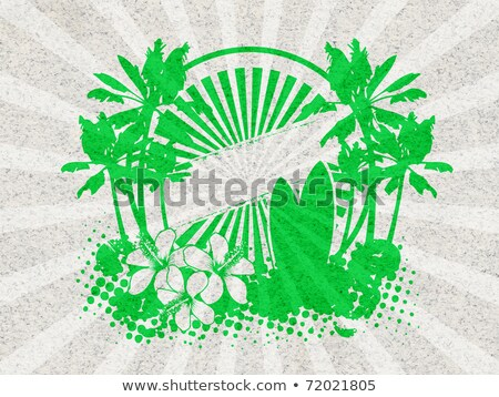 Stencil Tropical Banners Background Illustration Stock photo © lenm