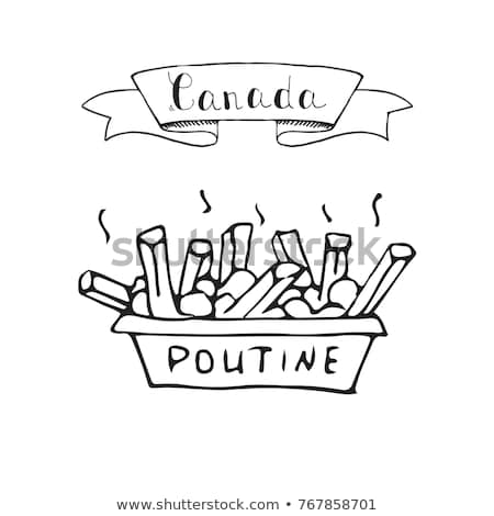 Food Canada Poutine Illustration Stock photo © lenm