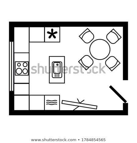 Utensili da cucina stanza bianco 3D Foto d'archivio © make
