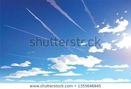 空 実例 背景 芸術 飛行機 読む ストックフォト © colematt