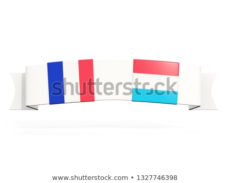 Banner with two square flags of France and luxembourg Stock photo © MikhailMishchenko