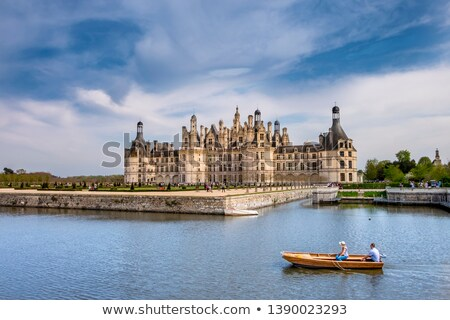 chambord chateau at sunset france stock photo © neirfy