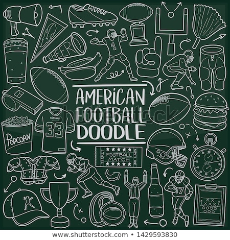Hand drawn American Football elements Stock photo © netkov1