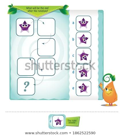 Puzzles shape  rotation Stock photo © Olena