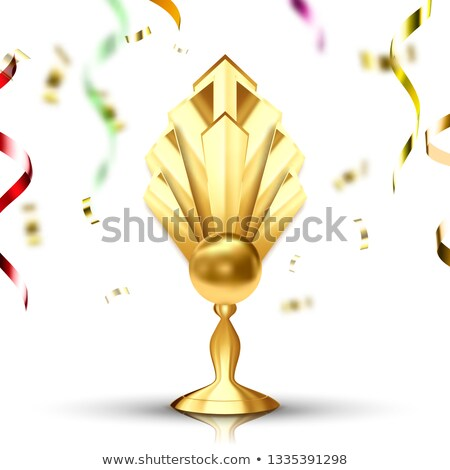 winner golden cup vector gilded metal object leader tag athlete power number one first place a stock photo © pikepicture