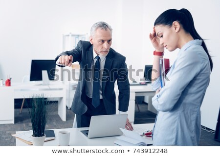 Bad Boss Chief Executive Angry with Office Worker Stock photo © robuart