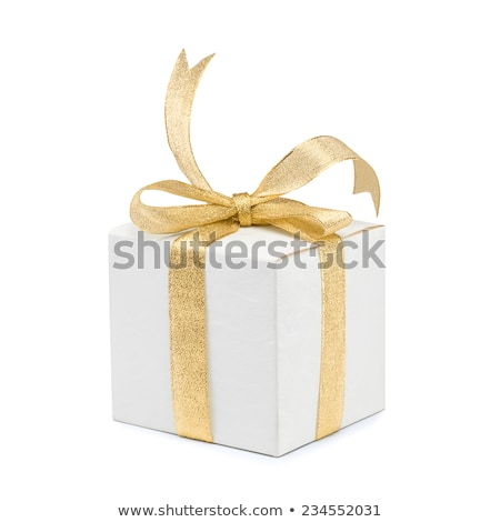 White box with gold tape Stock photo © creatOR76
