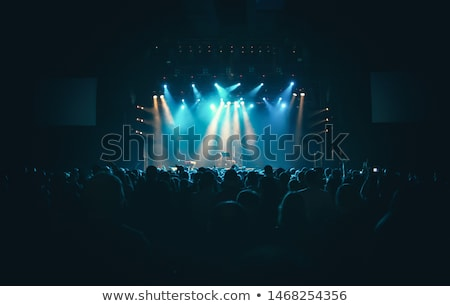 Big Concert Hall with Blue Light Full of People Stock photo © robuart