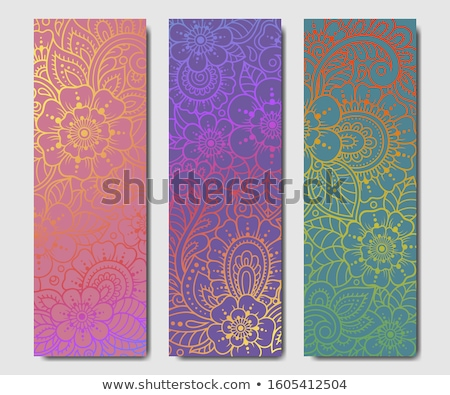 vector set of yoga mat stok fotoğraf © olllikeballoon