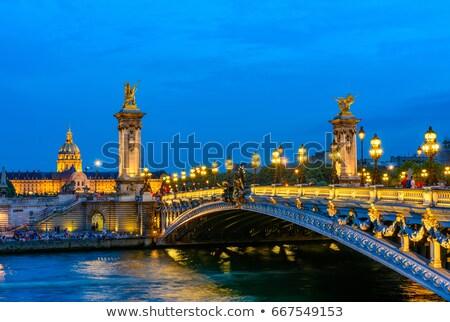 Paris ver terceiro ponte rio verde Foto stock © artjazz