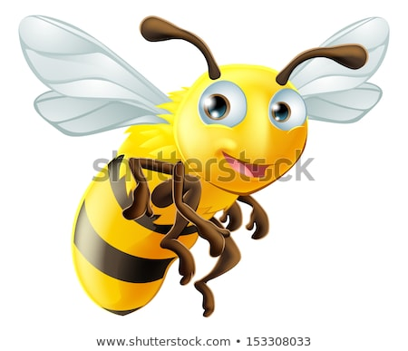 Bumble Bee Honey Comb Bumblebee Hive Cartoon Stock photo © Krisdog