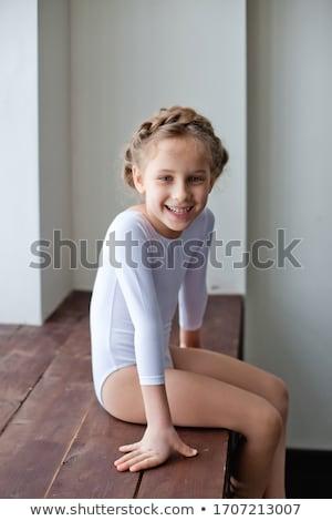 Weinig gymnast verschillend moeilijk fase Stockfoto © Anna_Om