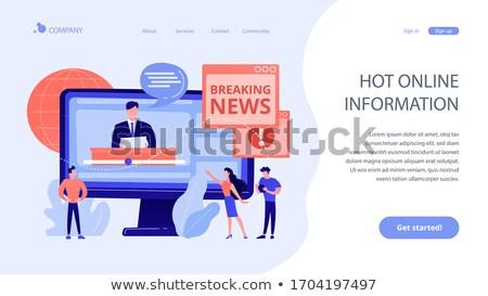 Forró online információ leszállás oldal sajtó Stock fotó © RAStudio