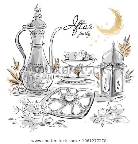Vásár szalag vízfesték stílus boldog terv Stock fotó © SArts