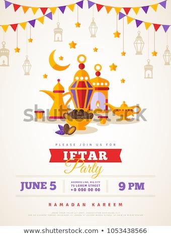 рамадан · вечеринка · шаблон · счастливым - Сток-фото © SArts