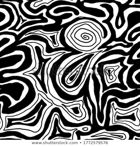 Kontur Zeilen Design Karte Kunst Muster Stock foto © SArts