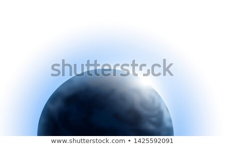 Vector planet Earth with sunrise in space isolated on white background. Blue globe illustration Stock photo © Iaroslava