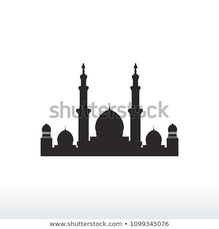 Moskee silhouet grafisch ontwerp sjabloon vector gebouw Stockfoto © haris99