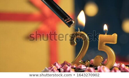 Festive cake with golden candles - Number 25 Stock photo © Zerbor