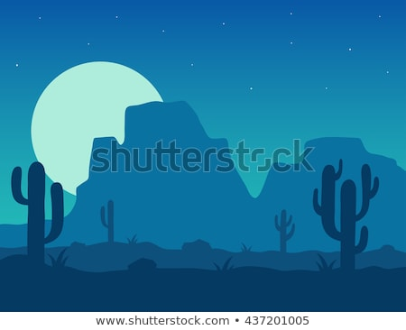 Cactus in the desert under blue sky Stock photo © boggy